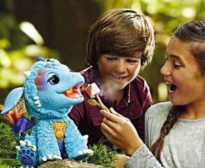 FurReal Friends Torch My Blazin Dragon-giving-treat