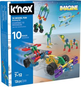 KNEX 10 Model Building Fun Set 126 Pieces Ages 7+ Engineering Education Toy
