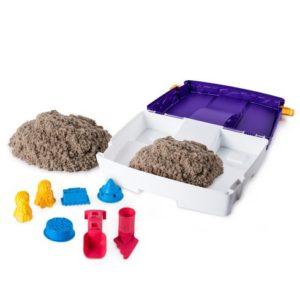 Kinetic sand folding sandbox tools