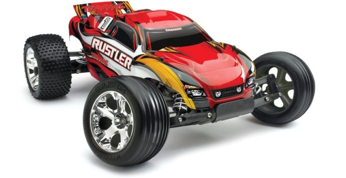 Traxxas RTR 1-10 Rustler Red Rc Car Toys Review