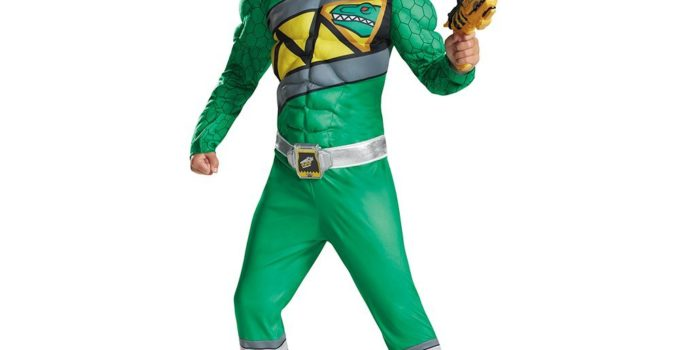 Green Ranger Dino Charge Classic Muscle Costume