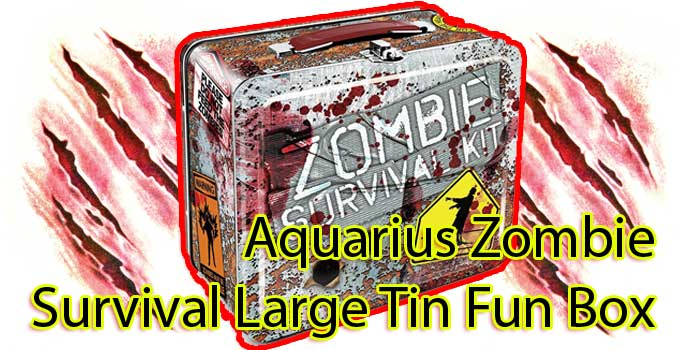 Aquarius Zombie Survival Large Tin Fun Box Review