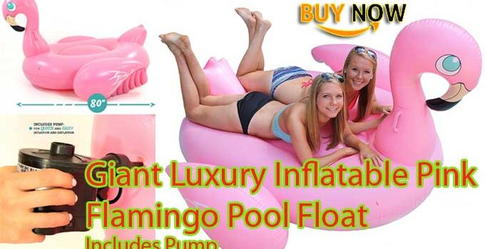 Giant Luxury Inflatable Pink Flamingo Pool Float Jumbo Pool Toy Floatie Raft Review