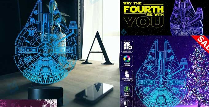 Holinox Star Wars Millennium Falcon Lamp Cool Review