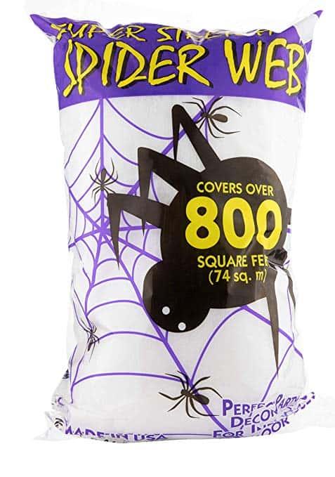 Fun World Super Stretch Spider Web for Halloween Outdoor Decoration