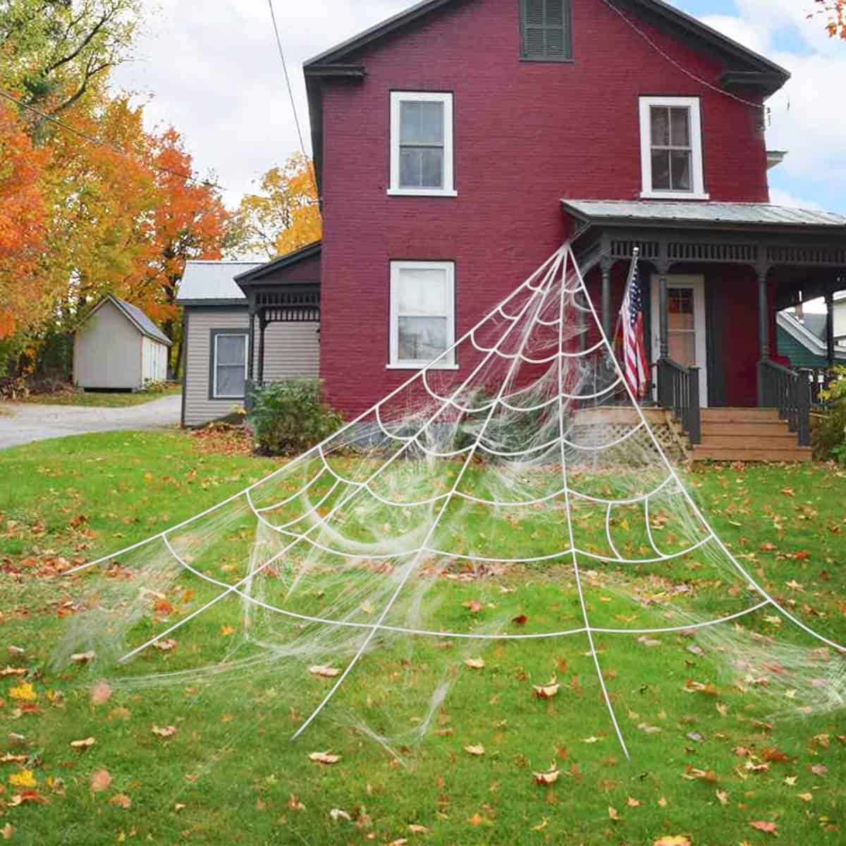 Giant Spider Web Halloween Decor Decoration Outdoor