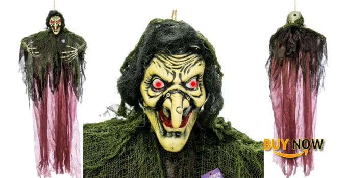 Halloween Haunters Hanging 7 Foot Scary Wicked Witch