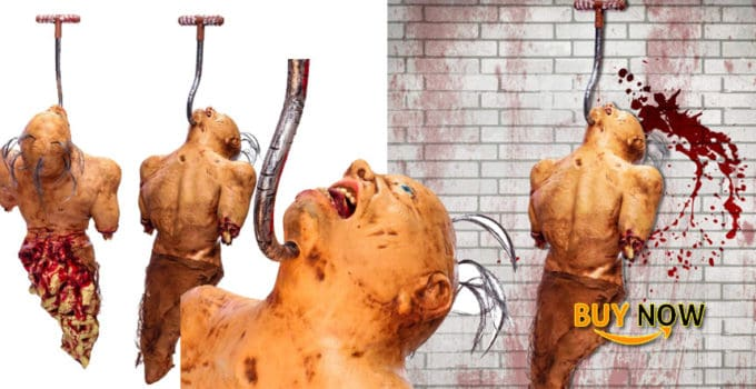 Halloween Haunters Life-Size Zombie Man Ghoul Torso Hanging