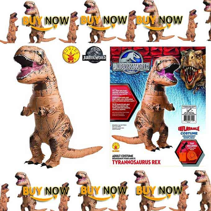 Rubies Adult Jurassic World Inflatable Dinosaur Costume