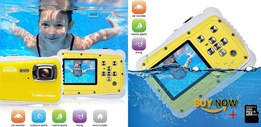 Best Kids Digital Camera Video Recorder-IP68 Waterproof Camera Underwater Digital Action Camera Kids