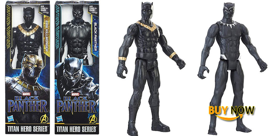 Black Panther Marvel 2-Pack Black Panther Erik Killmonger Super Hero Action Big Figure Set