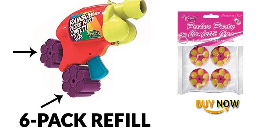 Buy Pecker Party Confetti Gun Refill Cartridges 6 Shot Refill