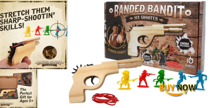 Find The Best Banded Bandit Six Shooter Rubber Band Gun Set