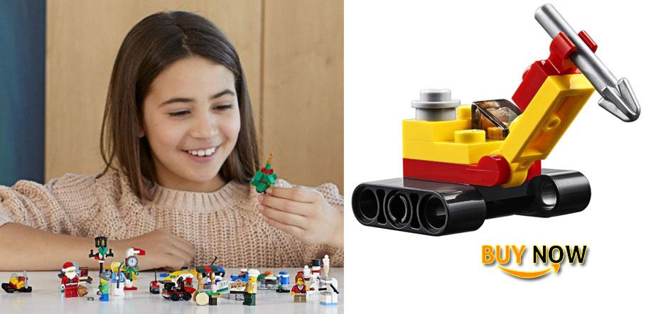 LEGO City Calendar 2018 Newest Edition Minifigures Small Building Toys, Christmas Countdown Calendar Kids (313 Pieces)