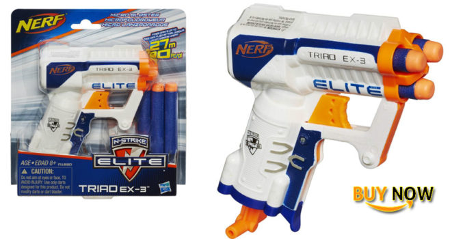 best nerf n strike elite triad ex 3 blaster 2018