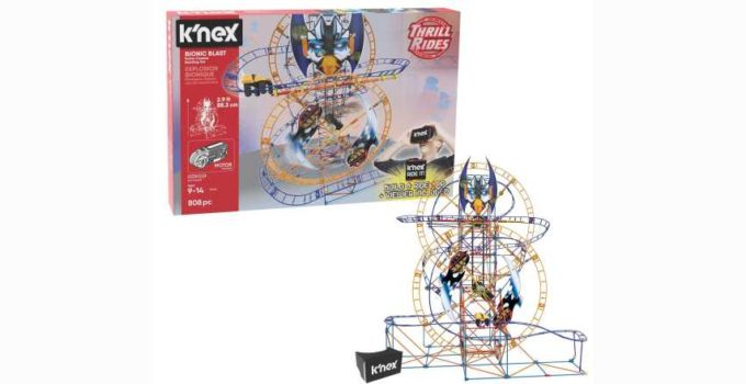 K NEX Thrill Rides Bionic Blast Roller Coaster Building Set with Ride It App Review