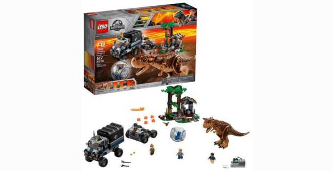 LEGO Jurassic World Carnotaurus Gyrosphere Escape 75929 Building Kit Review