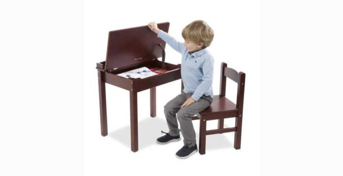 Melissa and Doug Child-s Lift-Top Desk & Chair Espresso Review