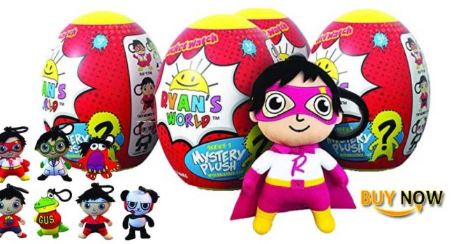 Ryan's World Surprise Egg Plush Clip Set of 4 Review