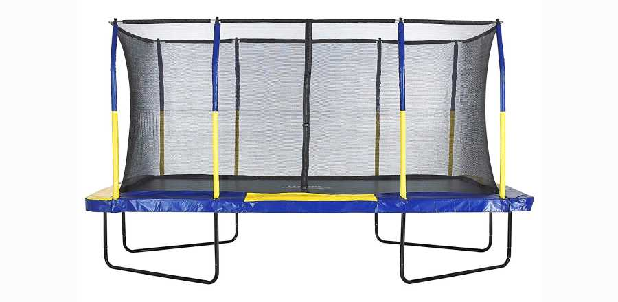 Upper Bounce Easy Assemble Spacious Rectangular Trampoline with Fiber Flex Enclosure Feature Review