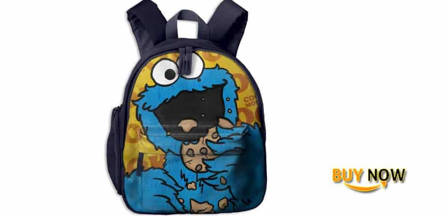 Baby Boys Girls Toddler HD-Cookie-monster Pre School Bag Backpack Satchel Rucksack Handbag
