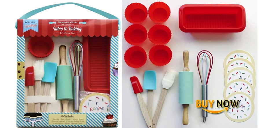 Review Handstand Kitchen 17-piece Introduction to Real Baking Set with Recipes for Kids