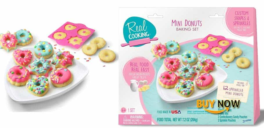 Real Cooking Sprinkled Mini Donuts Baking Set – 6 Pc