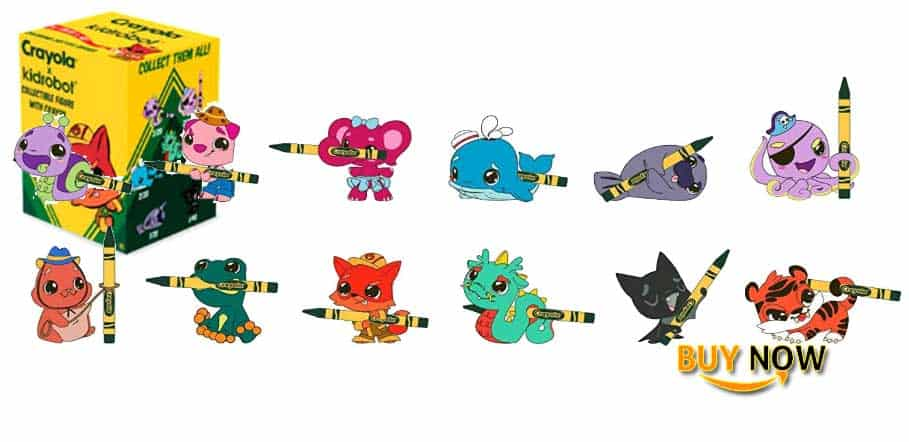 One Blind Box Coloring Critter Vinyl Mini Series Figure by Crayola X Kidrobot