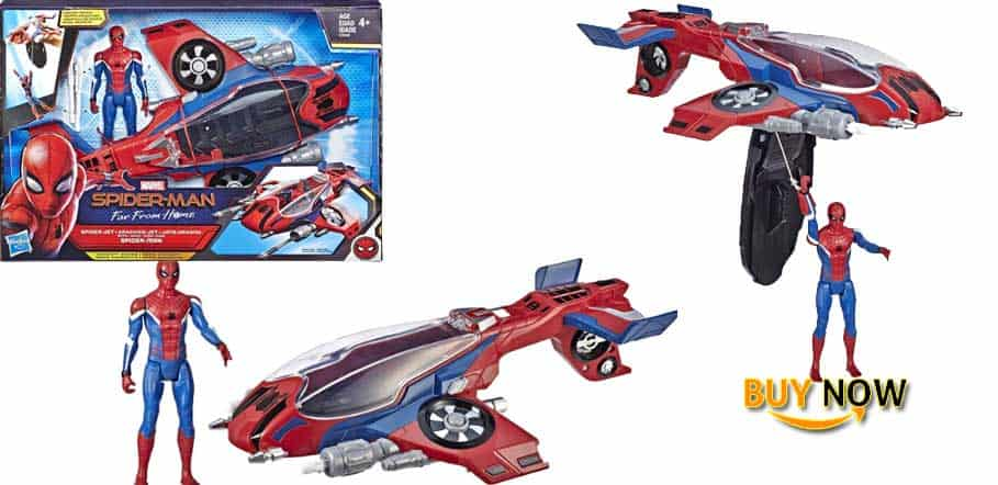 "Spider-Man: Far from Home Spider-Jet with - Vehicle Toy & 6""-Scale Action Figure"