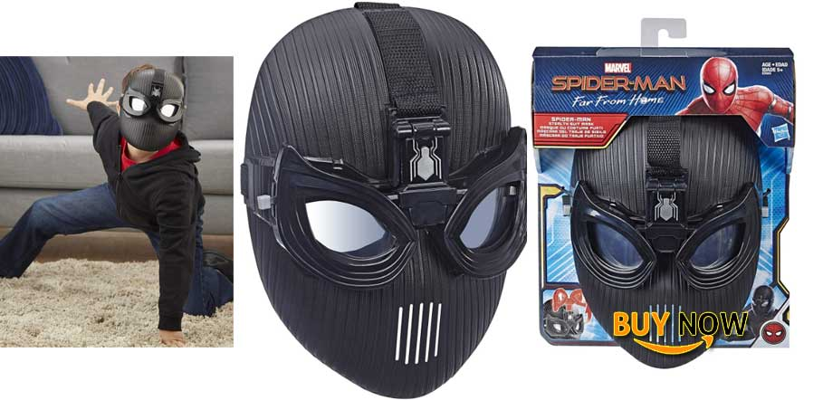 Spider-Man Marvel Far from Home Stealth Suit Mask for Roleplay - Super Hero Mask Toy