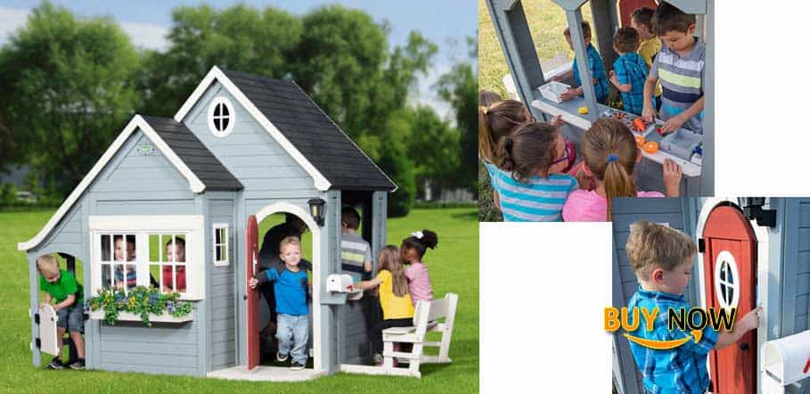 Discovery Backyard Spring Cottage Cedar Playhouse Amazing Review
