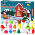 FLY2SKY Advent Calendar 2020 Christmas Countdown Calendar 24Pcs Mochi Squichy Toys Cute Animals Squichies Christmas Party Favors for Girls Boys Santas Snowman Unic0rn Dinos