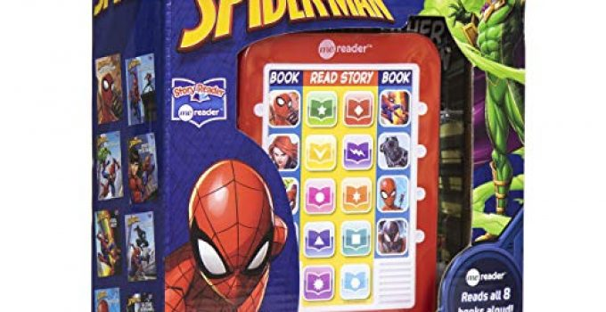 Marvel - Spider-man Me Reader Electronic Reader and 8 Sound Book Library – Great Alternative to Toys for Christmas - PI Kids