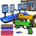 POKONBOY 2 Pack Blaster Toy Guns for Boys with Electric Shooting Digital Target, Toy Gun Set with 80PCS Soft Foam Bullets Fit for Nerf Guns for Kids Age 3-12 as Birthday Gift