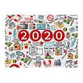 BKUS 2020 Commemoration Jigsaw Puzzle for Adults Kids 500 Pieces 2020 Events Christmas Jigsaw Puzzles for Kids Toys,Best for Family Stress Relief Game Play Collection,Christmas Home Decorations