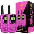 Girls Gifts Age 4-7, dmazing Walkie Talkies Toys with Backlit LCD Flashlight Christmas Birthday Gifts for 3-6 Year Old Girls Toys Age 4-8 Xmas Gifts for 3-6 Year Old Girls Stocking Stuffer Pink