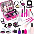 TEPSMIGO Pretend Makeup Kit for Girls, Kids Pretend Play Makeup Set - with Cosmetic Bag for Birthday Christmas, Toy Makeup Set for Toddler, Little Girls Age 3+(Not Real Makeup)