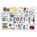 Homstar 2020 Jigsaw Puzzle 1000 Pieces Hello 2021 Christmas Paper Puzzle Jigsaw for Adults Kids Game for Grown Ups Children Educational Toys to Memorialize This Weird Year