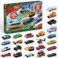 JOYIN 2020 Advent Calendar Kids Christmas 24 Days Countdown Calendar Toys for Kids with Diecast Cars Set