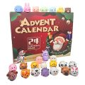 Leeche Super Cute Animal Toys for Toddler & Kids Advent Calendar 2020,24 Surprises Christmas Countdown Squishies Toys&Animal Pull Back Cars for Kid 2-3-5-7 Ages,Treasure Chest for Kids