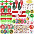 Max Fun 72Pcs Christmas Party Toys Assortment for Christmas Stocking Stuffers Party Favors Prizes Box Toy Assortment Classroom