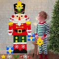 Camlinbo 3.8 FT Nutcrackers Felt Christmas Tree for Toddler Kids Christmas Decorations with 31 DIY Ornaments Christmas Wall Door Hanging Decor Xmas Holiday Toys Gifts for Boys Girls Party Supplies