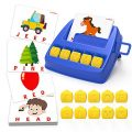 LIORQUE Matching Letter Game for Kids Educational Toys for 3-8 Year Old Boys Girls, Alphabet Reading Spelling Games, Word Learning Games for Preschool Kindergarten, Christmas Birthday Easter Gifts