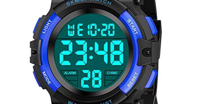 Outdoor Toys for Kids Age 6-12 Boys, SOKY LED 50M Waterproof Sport Watches for Teen Girls Birthday Xmas Present for 8-10 Year Old Boys Wrist Watch for Teenage Boys Stocking Fillers Royal Blue SKUSSWL3