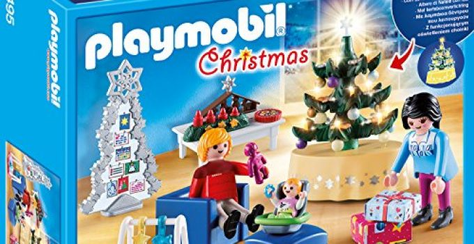 PLAYMOBIL Christmas 9495 Christmas Living Room, for Children Ages 4 +
