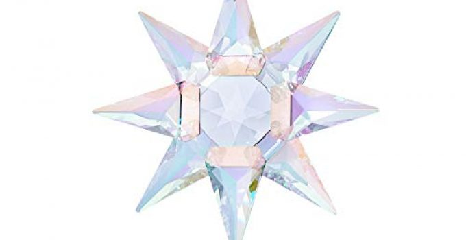 "SWAROVSKI 125th Anniversary Engraved Limited Annual Edition 2020 Crystal Star Ornament, 4"" Tall, Multicolor Shimmer"