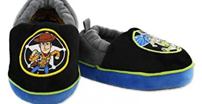 Toy Story Woody Buzz Boys Toddler A-Line Slippers (11-12 M US Little Kid, Black)