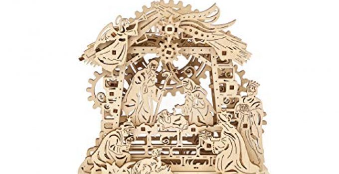 UGEARS Nativity Scene - Mechanical Puzzle 3D - Self Assembly Woodcraft Construction Kits - Wooden Nativity Set - Christmas Puzzles for Kids - Christmas DIY Decorations - Crafts on Idea