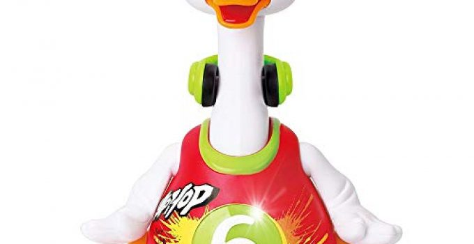 Woby Hip Hop Dancing Walking Swing Goose Musical Educational Gift Toy for 1 Year Old Toddlers Red