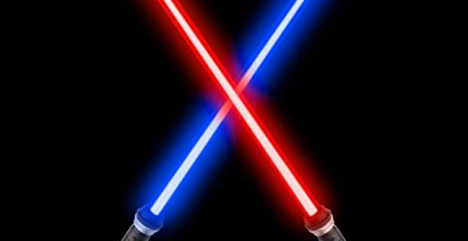 sugoiti Light Sabers for Kids,Upgrade 2-in-1 LED FX Dual Saber with Sound (Motion Sensitive) for Warriors and Galaxy War Fighters Stocking Idea, Xmas Presents